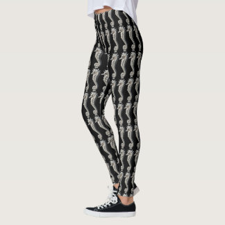 Legging Caneleiras do cavalo de mar