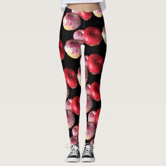 Legging Caneleiras do estiramento das calças da ioga das