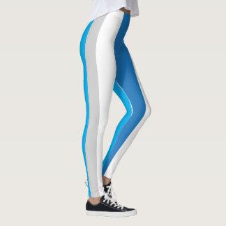 Legging Caneleiras listradas azuis/cinzentas 1