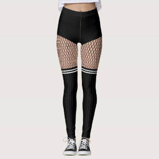 Caneleiras listradas dos Fishnets das meias do