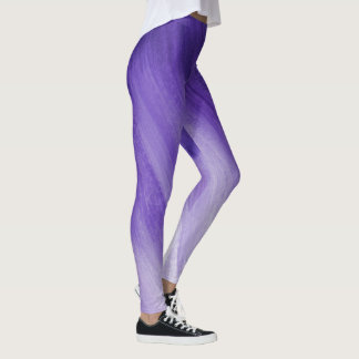 Legging Caneleiras roxas ultravioletas da arte abstracta
