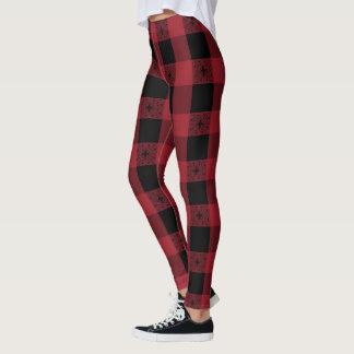 Legging Céltico vermelho e preto influenciado