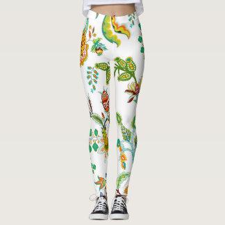Legging Chintz floral - fundo branco
