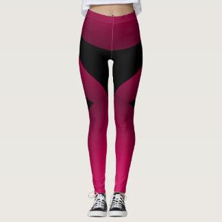 Legging Chique desportivo preto cor-de-rosa que Slimming a
