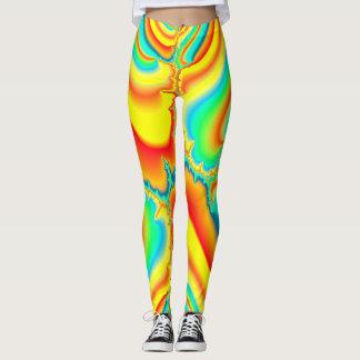 Legging Costume colorido do fractal psicadélico