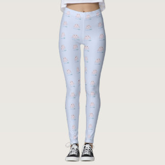 Legging Dentes cor-de-rosa do smiley