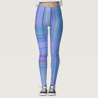 Legging Design listrado de n lavanda azul