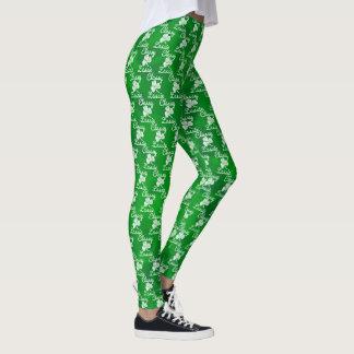 Legging Dia elegante do St. Patricks do trevo do verde do
