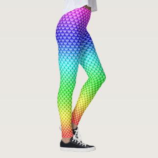 Legging Espectro do cheio do ~ do estilo da sereia