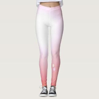 Legging Esportes cor-de-rosa do exercício da forma das