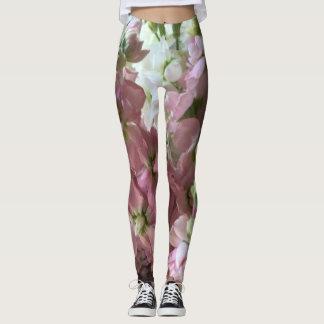 Legging Flores conservadas em estoque cor-de-rosa e