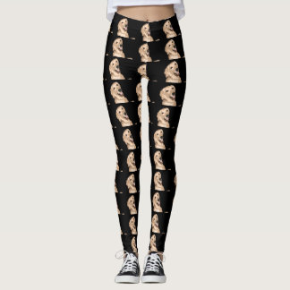 Legging Golden retriever feliz