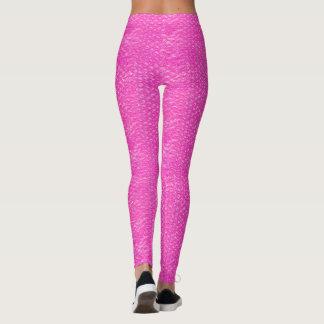 Legging Invólucro com bolhas de ar cor-de-rosa de néon do