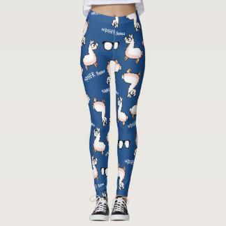 Legging Loucura do lama do hipster