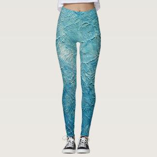 Legging Luz - caneleiras Textured azuis