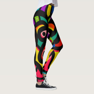 Legging Multi cor abstrata moderna