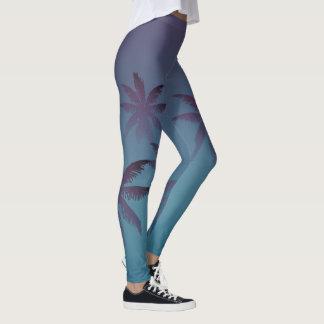 Legging O inclinação azul da cerceta roxa do Mulberry
