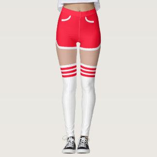 O tubo retro vermelho dos Shorts OTK golpeia
