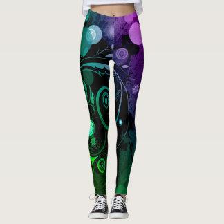 Legging Original colorido da arte abstracta