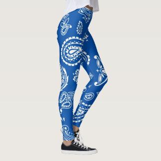 Legging Teste padrão abstrato do azul