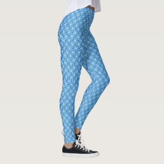 Legging Teste padrão do azulejo, cobalto e luz egípcios -