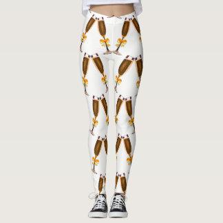 Legging Vidros de Champagne com arcos dourados