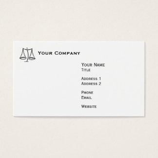 Lei - escala - negócio cartão de visitas