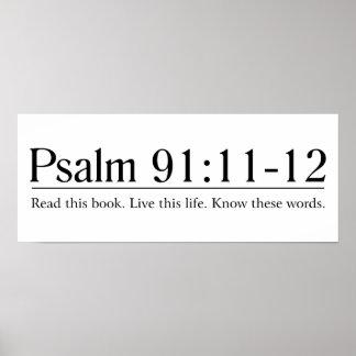 Leia o 91:11 do salmo da bíblia - 12 pôster