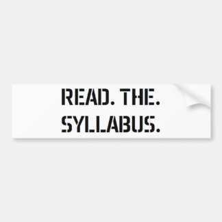 leia o plano de estudos adesivo de para-choque