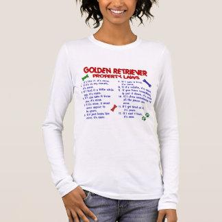 Leis 2 da propriedade do golden retriever t-shirt