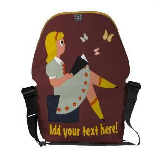 Leitura da menina bolsa mensageiro