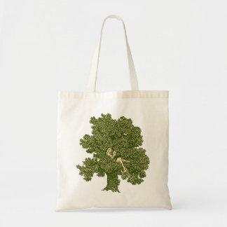 Leitura da mulher na árvore bolsas de lona