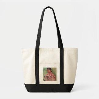 Leitura da mulher (óleo em canvas) sacola tote impulse