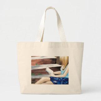 Leitura delicada bolsas de lona