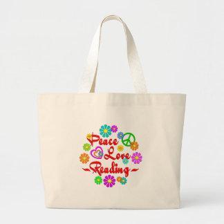 Leitura do amor da paz bolsa para compras