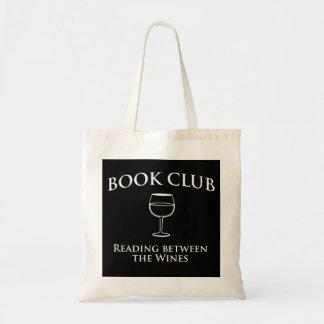 Leitura do clube de leitura entre os vinhos sacola tote budget