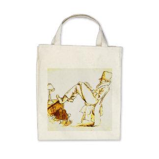 Leitura do homem - esboço bolsas para compras