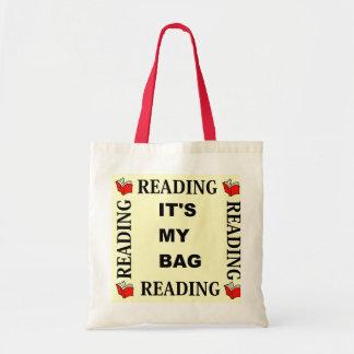 Leitura - é meu saco bolsas para compras