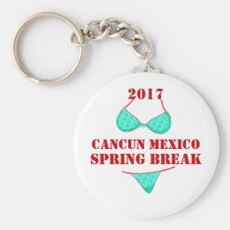 Lembrança 2017 das férias da primavera de Cancun Chaveiro