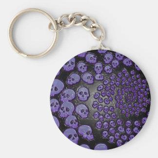 Lembrança Amare - PurpleSkullSpiral Chaveiro