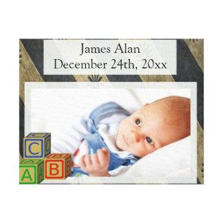 Lembrança da foto do bebé impressão em tela