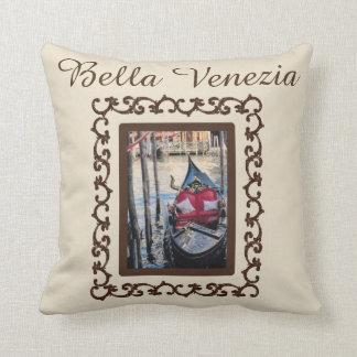 Lembrança de Italia da gôndola de Bella Venezia Almofada
