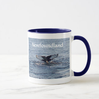 Lembrança de Terra Nova - cauda da baleia Caneca