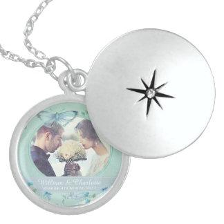 Lembrança do casamento colar de prata esterlina