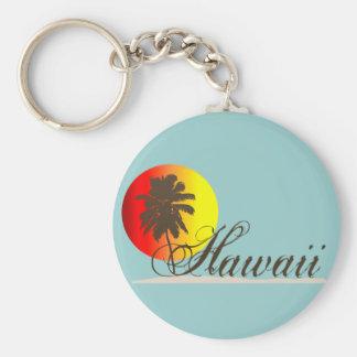 Lembrança do por do sol de Havaí Chaveiro