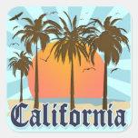 Lembrança do vintage de Califórnia Adesivo Quadrado