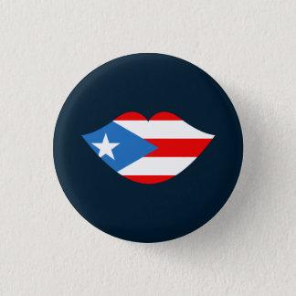 Lembrança: Lábios: Bandeira de Puerto Rico: Pin Bóton Redondo 2.54cm