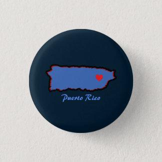 Lembrança: Mapa de Puerto Rico: Pin Bóton Redondo 2.54cm