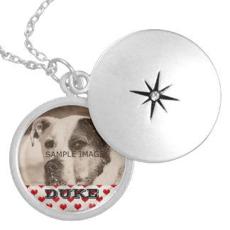 Lembrança personalizada do memorial da foto do colar banhado a prata