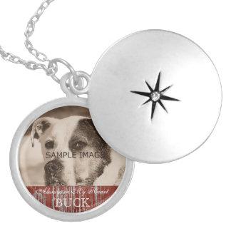 Lembrança personalizada do memorial da foto do colar medalhão